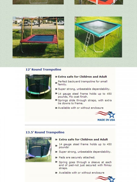 Trampoline For Sale: Explore The Most Selling Trampoline Models Infographic