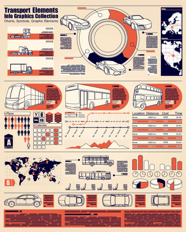 Transportation info graphic Infographic