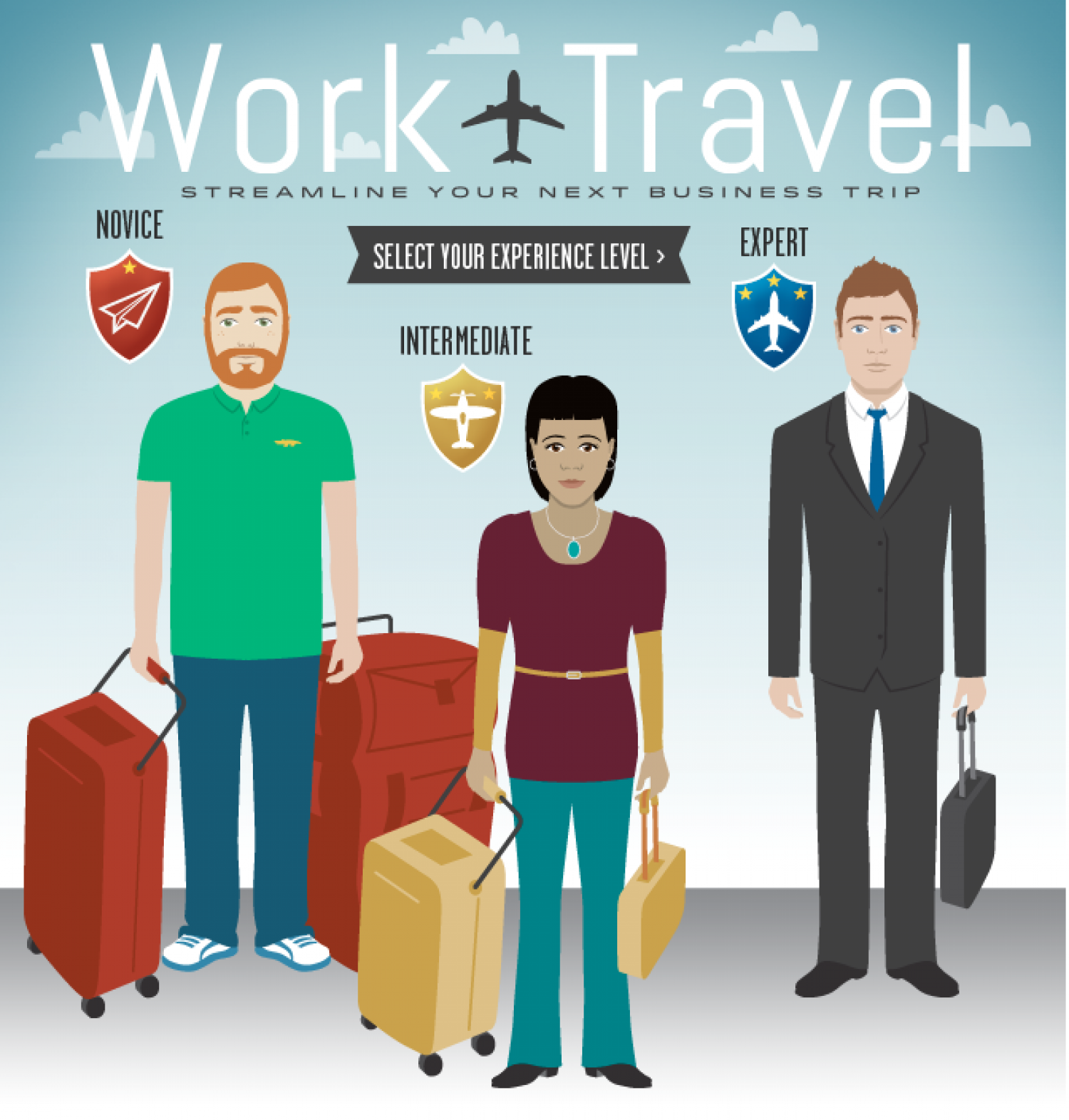 Travel Tips on the Fly: Interactive Guide Infographic