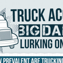 Truck Accidents - Big dangers lurking on the roads Infographic