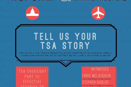 TSA OVERSIGHT: Tell Us Your Experience Infographic