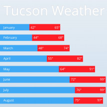 Tucson Weather Infographic