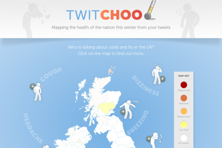 Twitchoo - Mapping the Health of the Nation This Winter From Your Tweets Infographic
