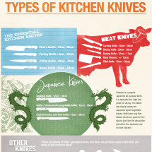 Types of Kitchen Knives Infographic