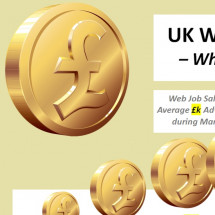 UK Web Job Salaries - March 2012 Infographic