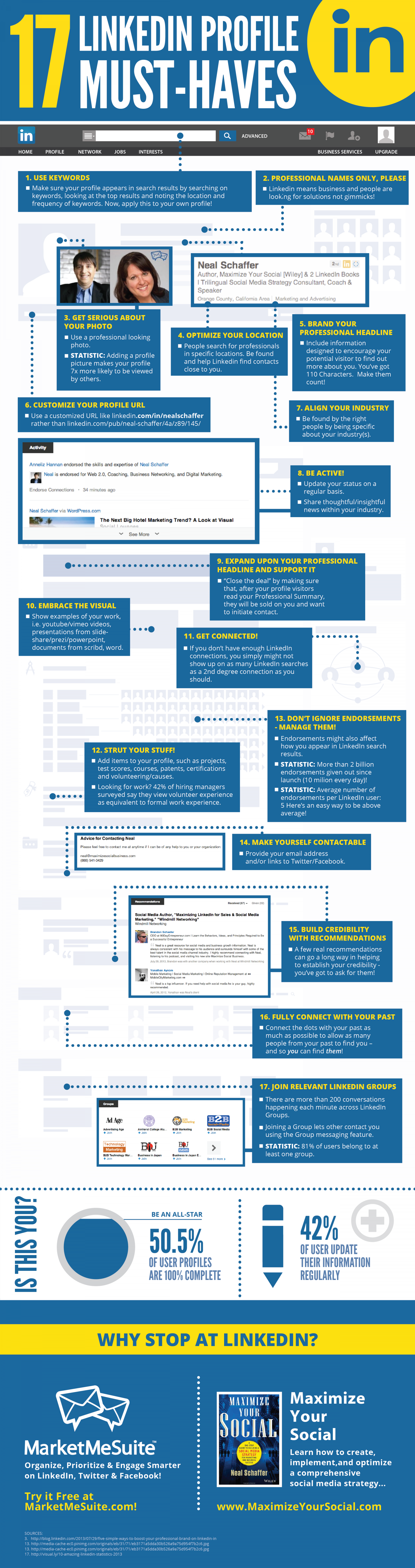 Ultimate LinkedIn Profile Tips Summary  Infographic