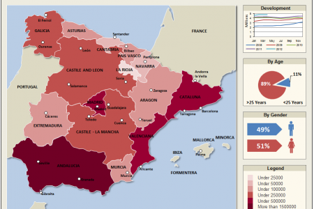 Unemployment Rate Spain April 2012 Infographic