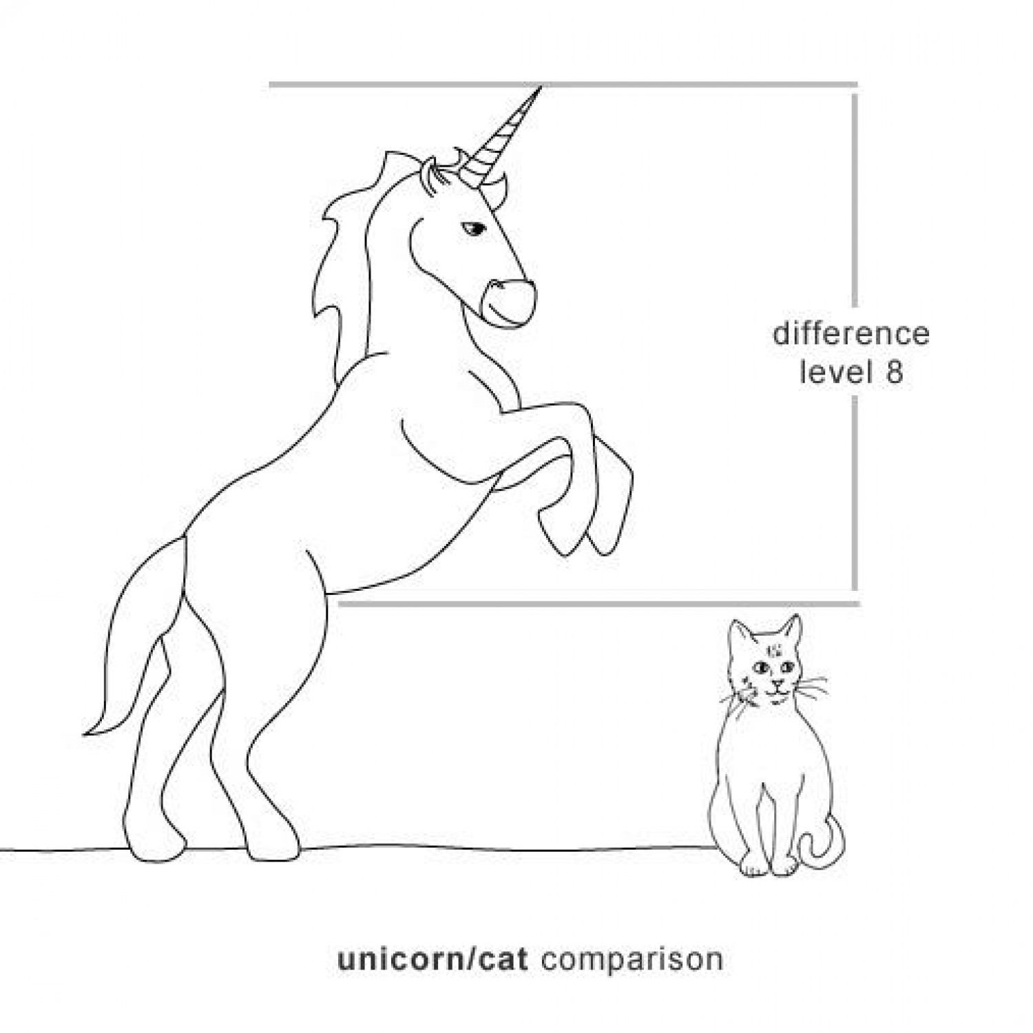 Unicorn - cat comparison  Infographic