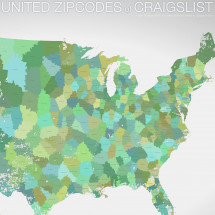 United Zipcodes of Craigslist Infographic