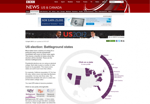 US election: Battleground states