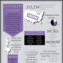 U.S. Immigration Enforcement Infographic