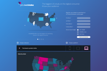 US Internet Behaviour Infographic