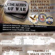 US Military Casualties in Iraq and Afghanistan Infographic