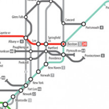 U.S. Numbered Highways as a Subway Map Infographic