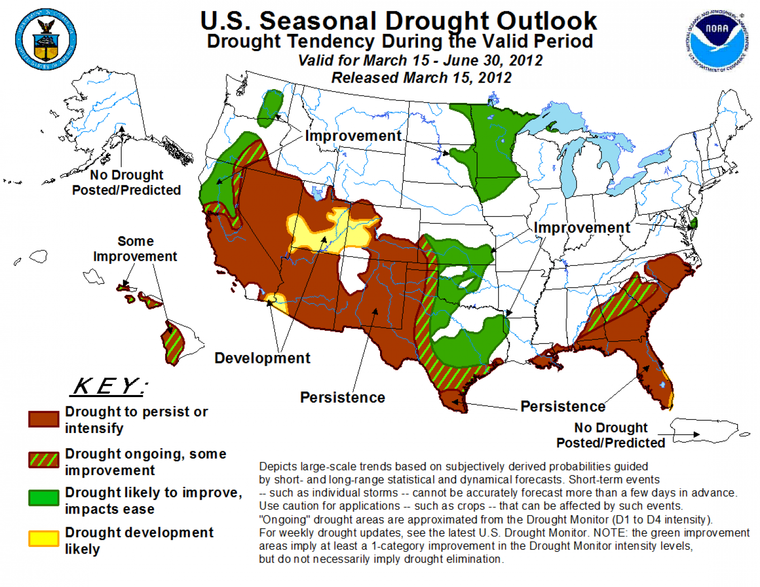 U.S. Seasonal Drought Outlook for 2012 Infographic