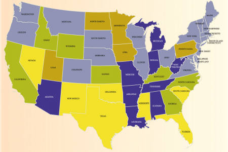 US Student Loan Delinquency Rates by State (2012) Infographic