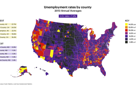 US Unemployment Rates By County Infographic