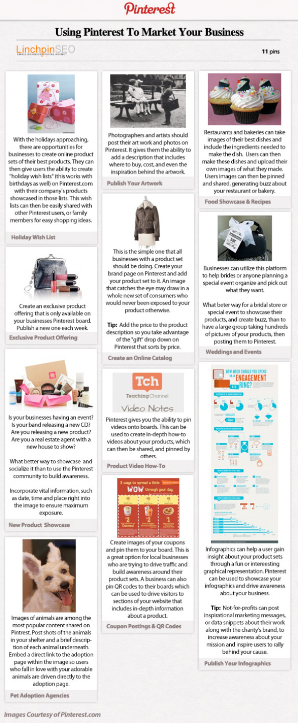 Using Pinterest To Market Your Business Infographic