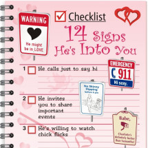 Valentine's Day Infographic - 14 Signs He's Into You Infographic