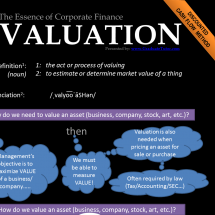 Valuation: The Essence of Corporate Finance Infographic