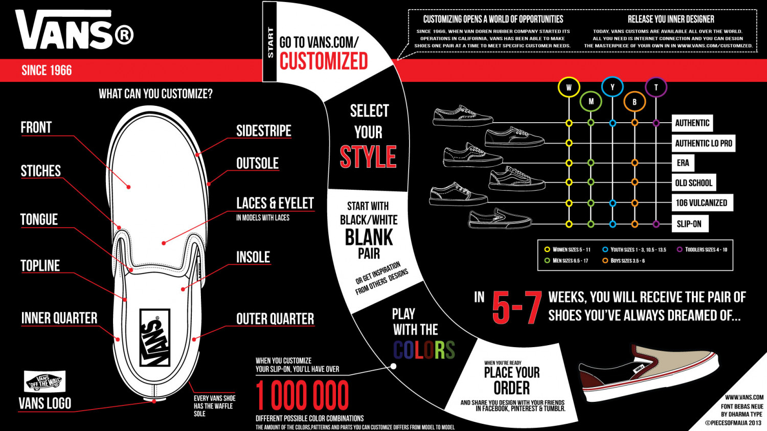 Vans Customized Sneakers Infographic