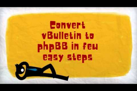 vBulletin to phpBB in few easy steps Infographic