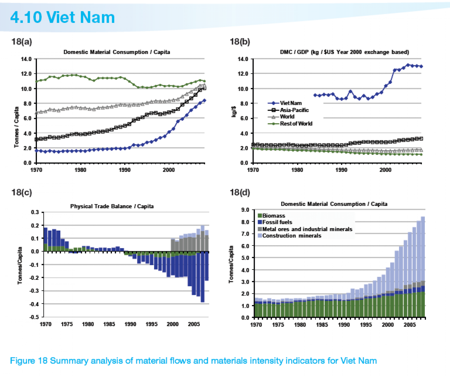 VIET NAM : Summary analysis of material flows and materials intensity indicators Infographic
