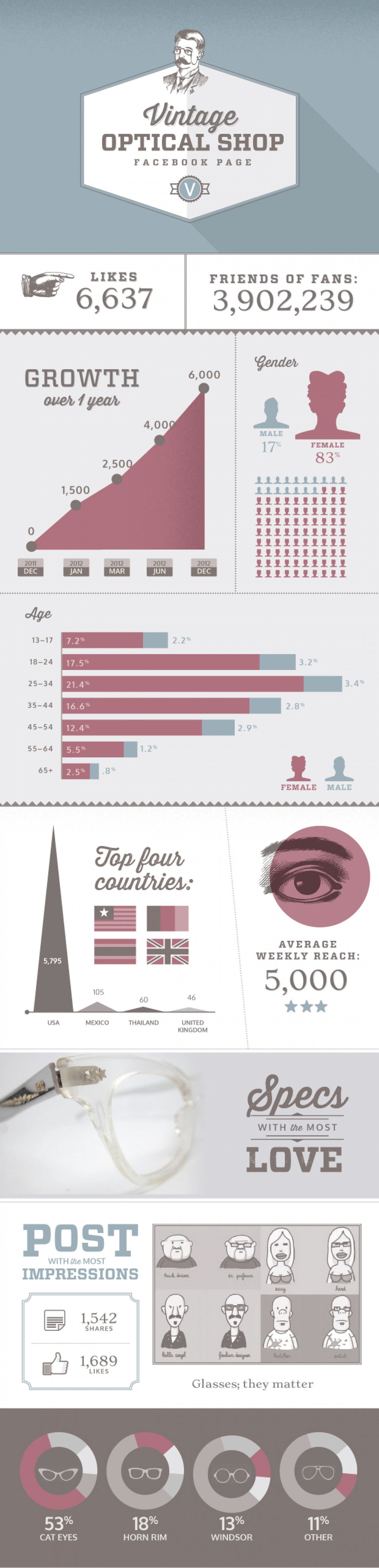 Vintage Optical Shop Infographic