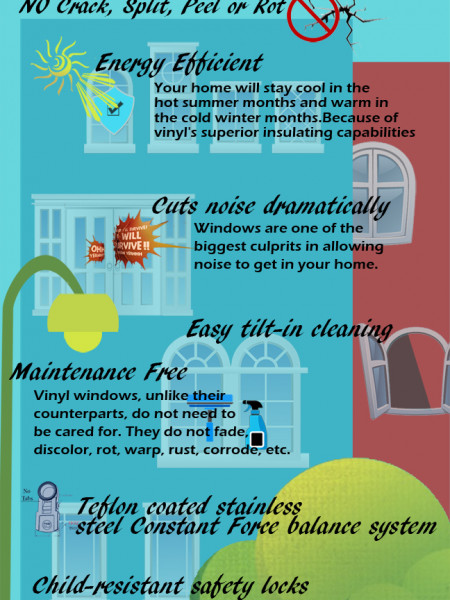 vinyl windows  Infographic
