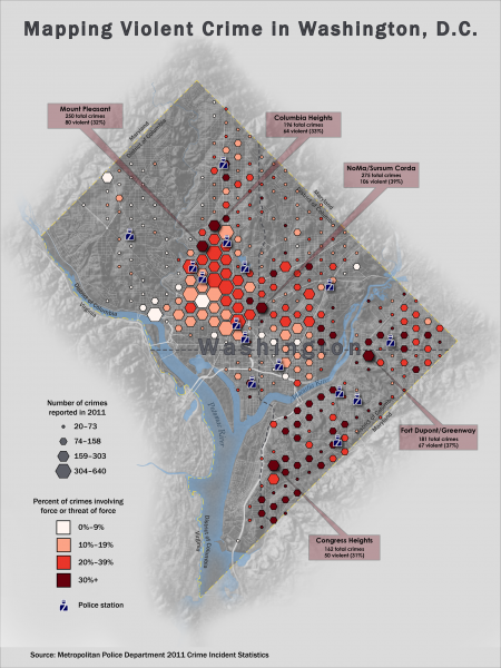 Violent Crime in Washington, D.C. Infographic