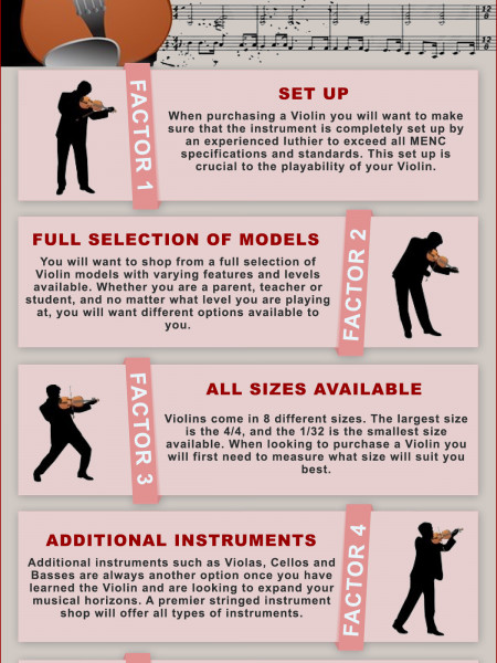 Violins For Sale Infographic