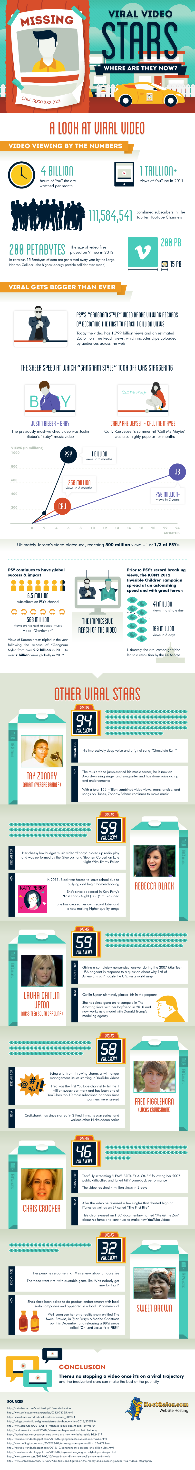 Infographic: Viral Video Stars Where Are They Now?