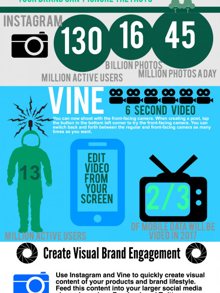 Visual Addiction - The Battle of Visual Platforms for Mobile Infographic