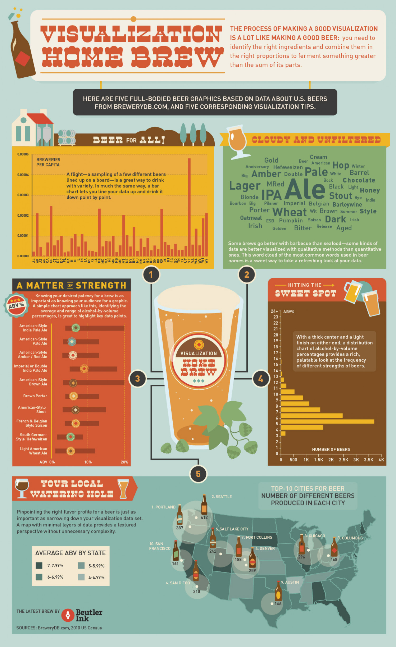 Visualization Home Brew Infographic