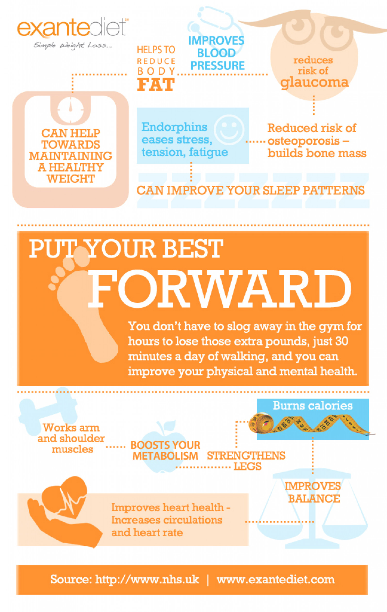 Walk Your Way to Better Health Infographic