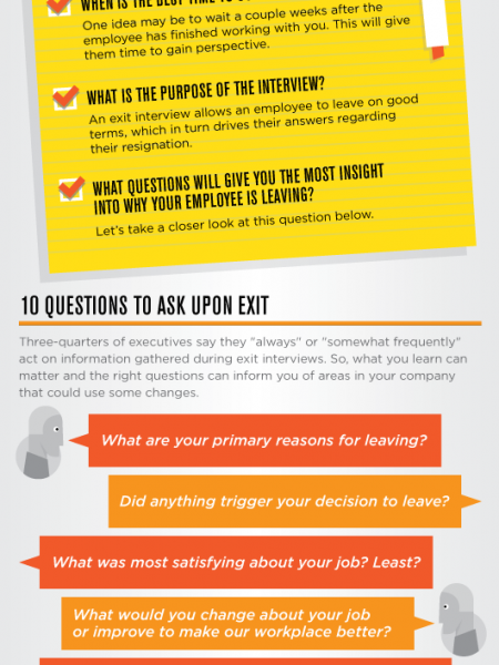 Walking Out: How to Run a Smooth Exit Interview Infographic