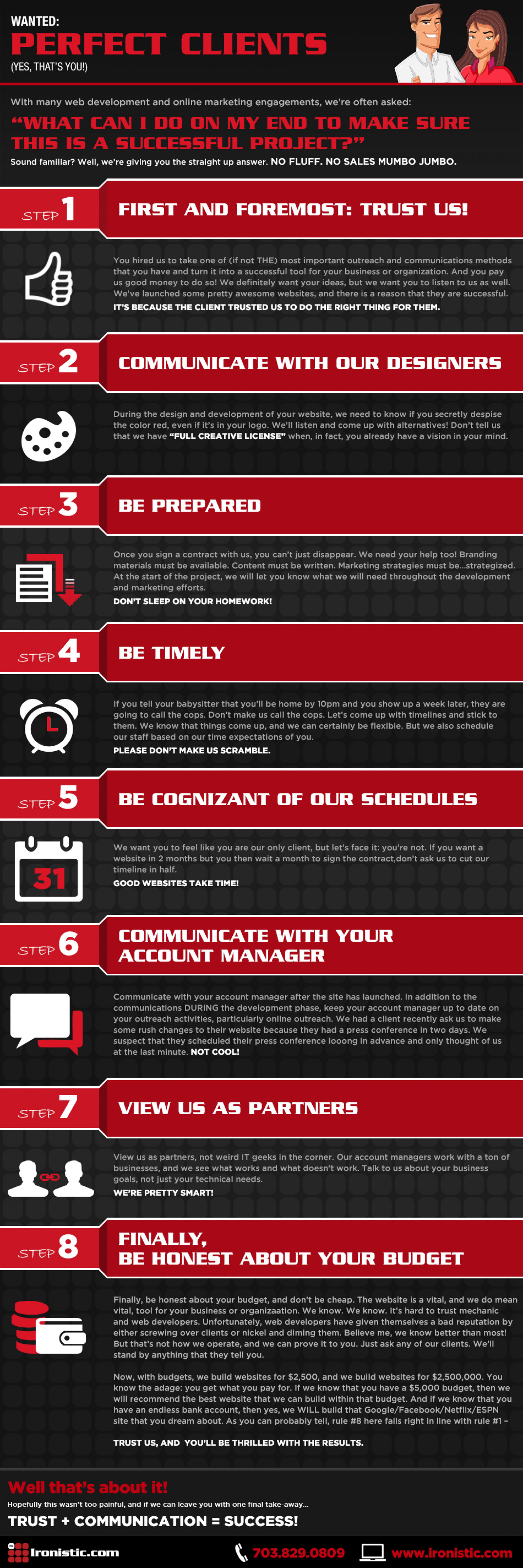 Wanted: Perfect Clients Infographic