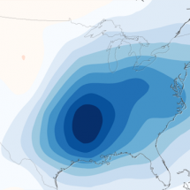 """Warming Hole"" Over the Eastern U.S. Due to Air Pollution Infographic"