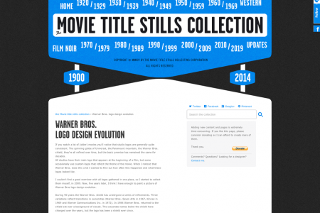 Warner Bros Logo Evolution Infographic