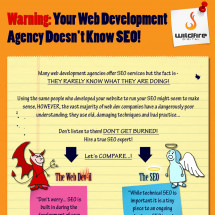 WARNING: Your Web Development Agency Doesn't Know SEO! Infographic