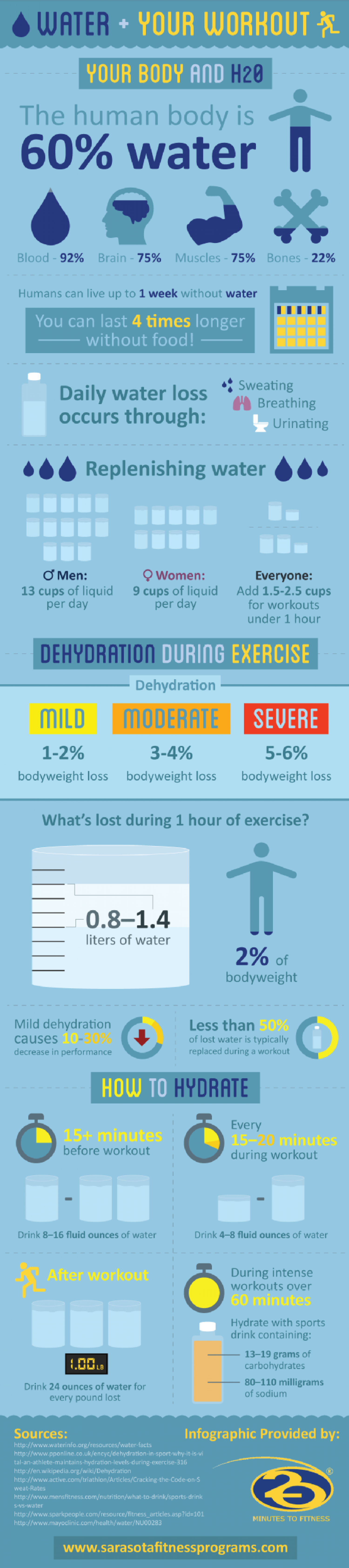 Water Plus Your Workout Infographic