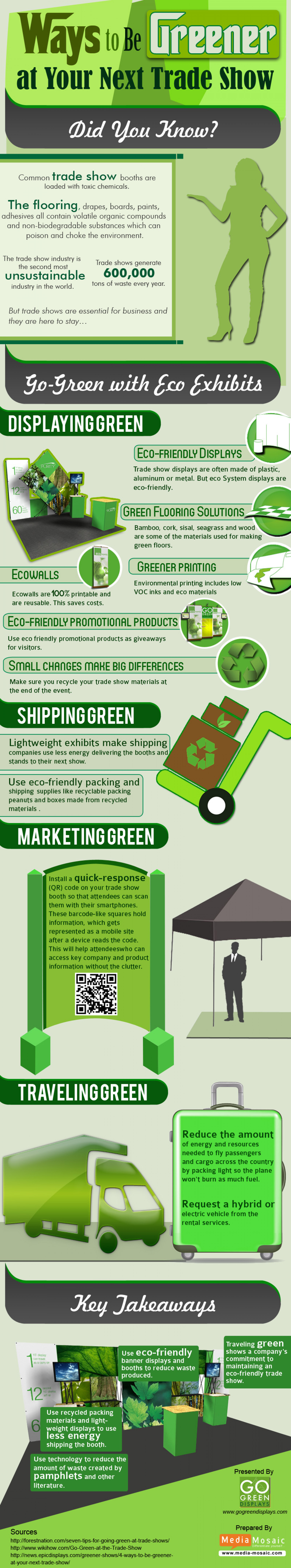 Ways To Be Greener At Your Next Trade Show Infographic