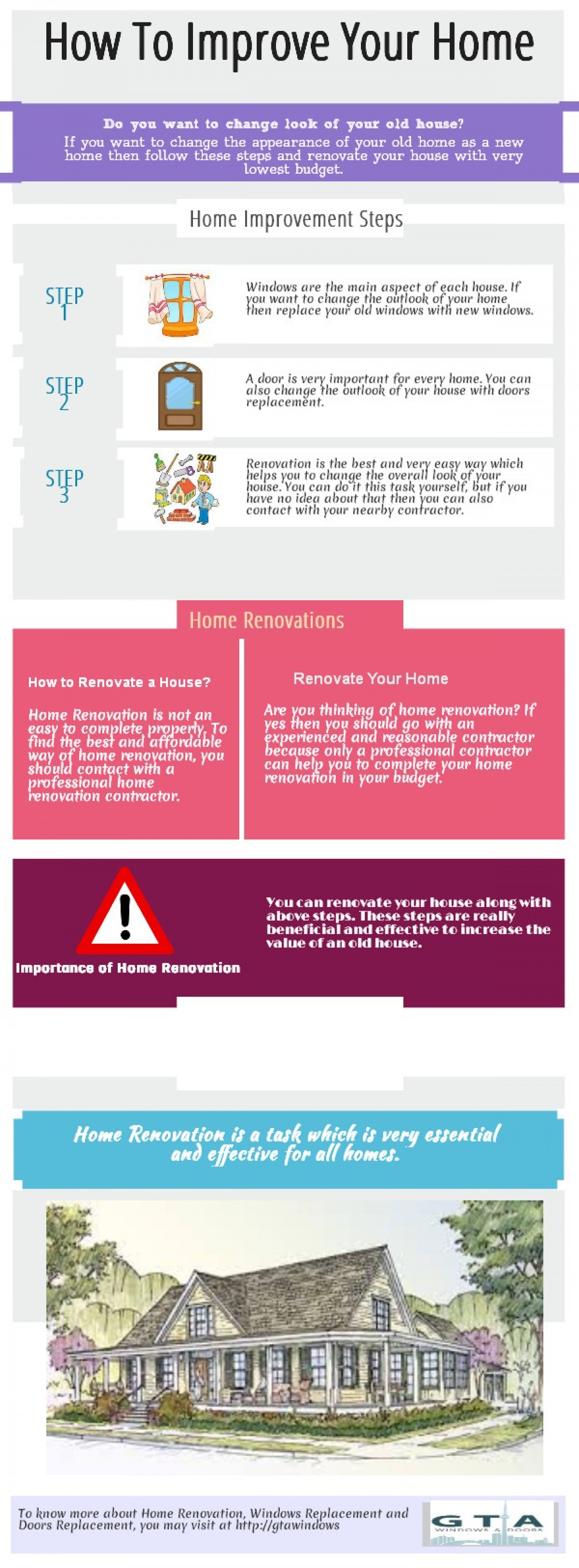 Ways to Improve Your Home Infographic