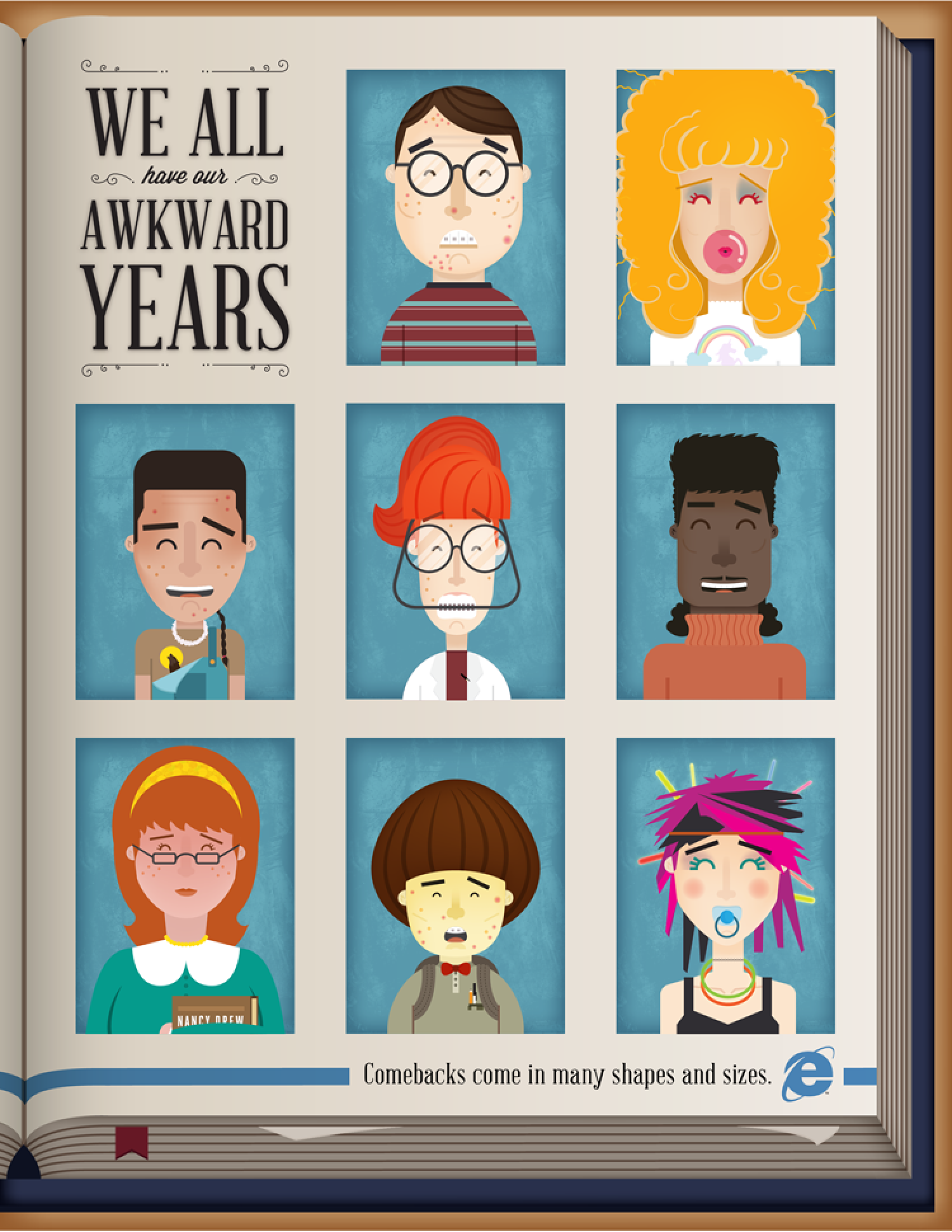We All Have Our Awkward Years Infographic