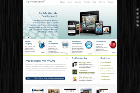 Website Design, Ecommerce Development and Web Application  Development company Bangalore - PredSolutions.com Infographic