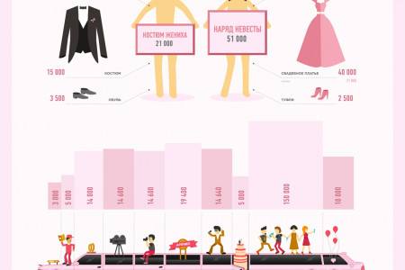 Wedding info graphics Infographic