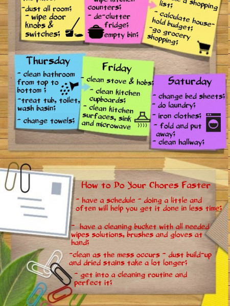 Weekly Chores Schedule Infographic