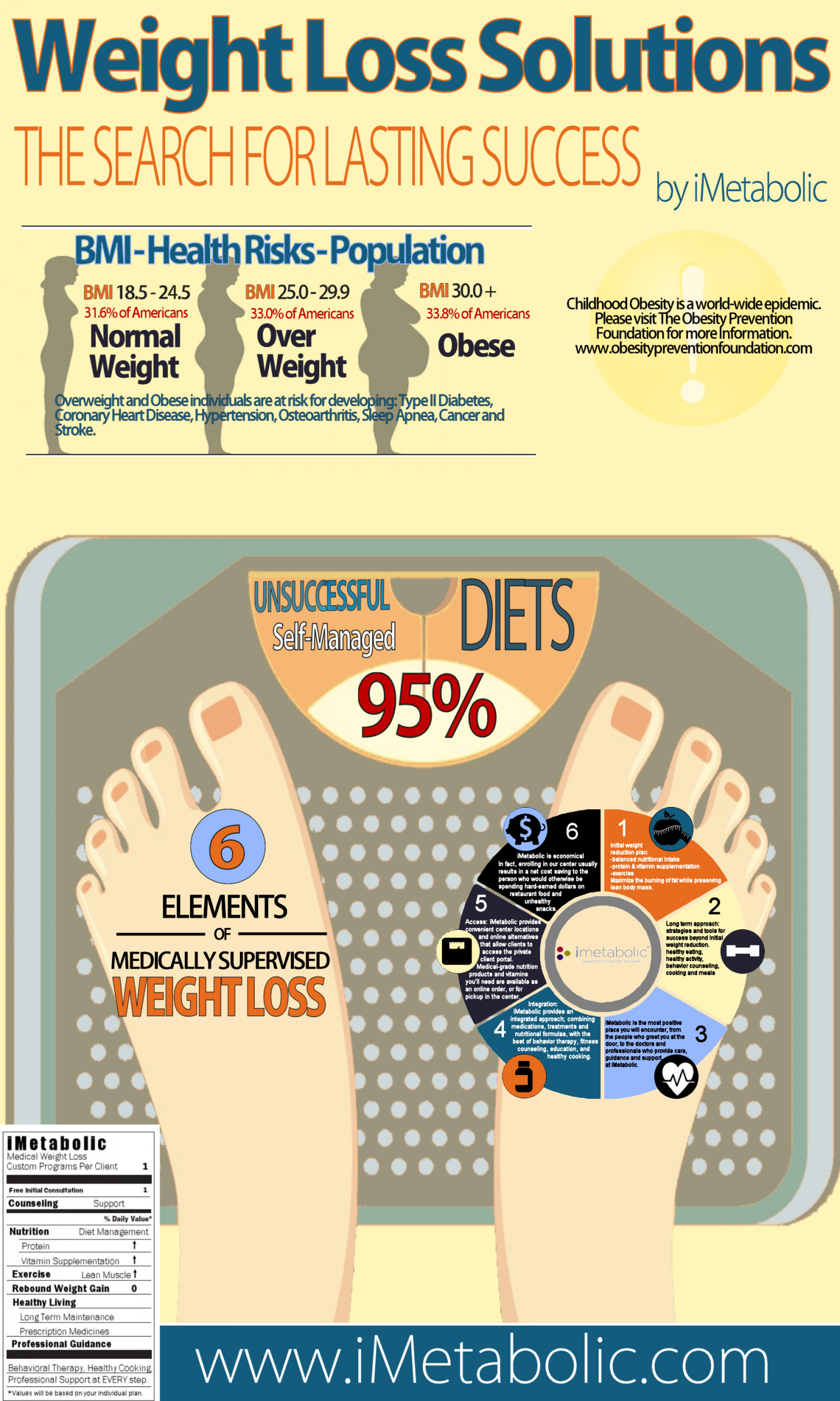 Weight Loss Solutions – The Search for Lasting Success Infographic