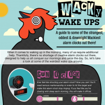 Weird Alarm Clocks Infographic