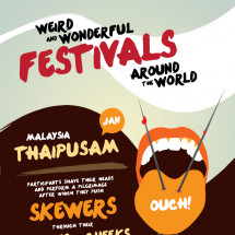 Weird and Wonderful Festivals Around The World Infographic